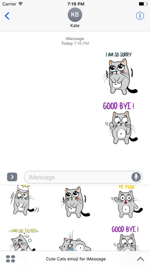 cute cats emoji for imessage on the app store