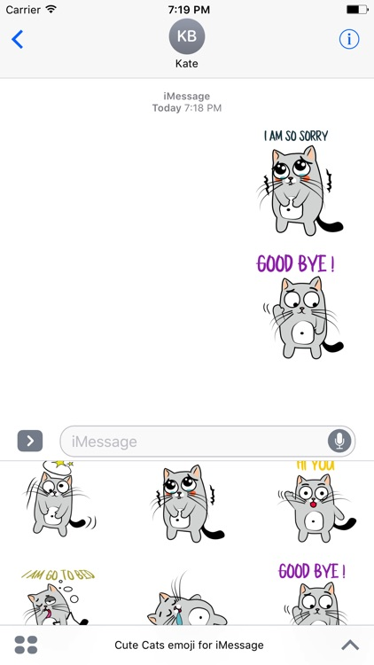 Cute Cats emoji for iMessage