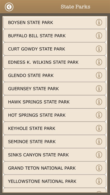 Wyoming Trails & Camps,Parks screenshot-4