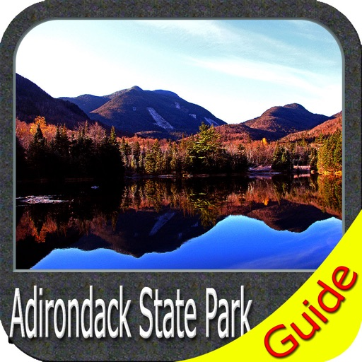 Adirondack State Park gps outdoor map with Guide