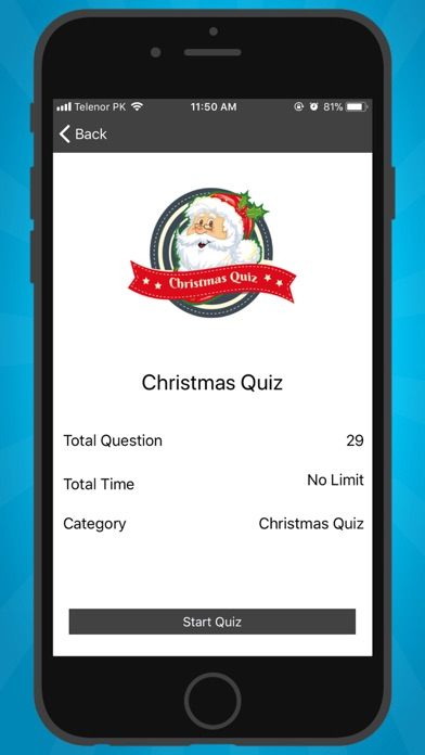 Christmas Trivia Quiz 2018 screenshot 1