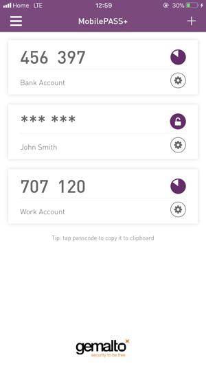 SafeNet MobilePASS+ on the App Store