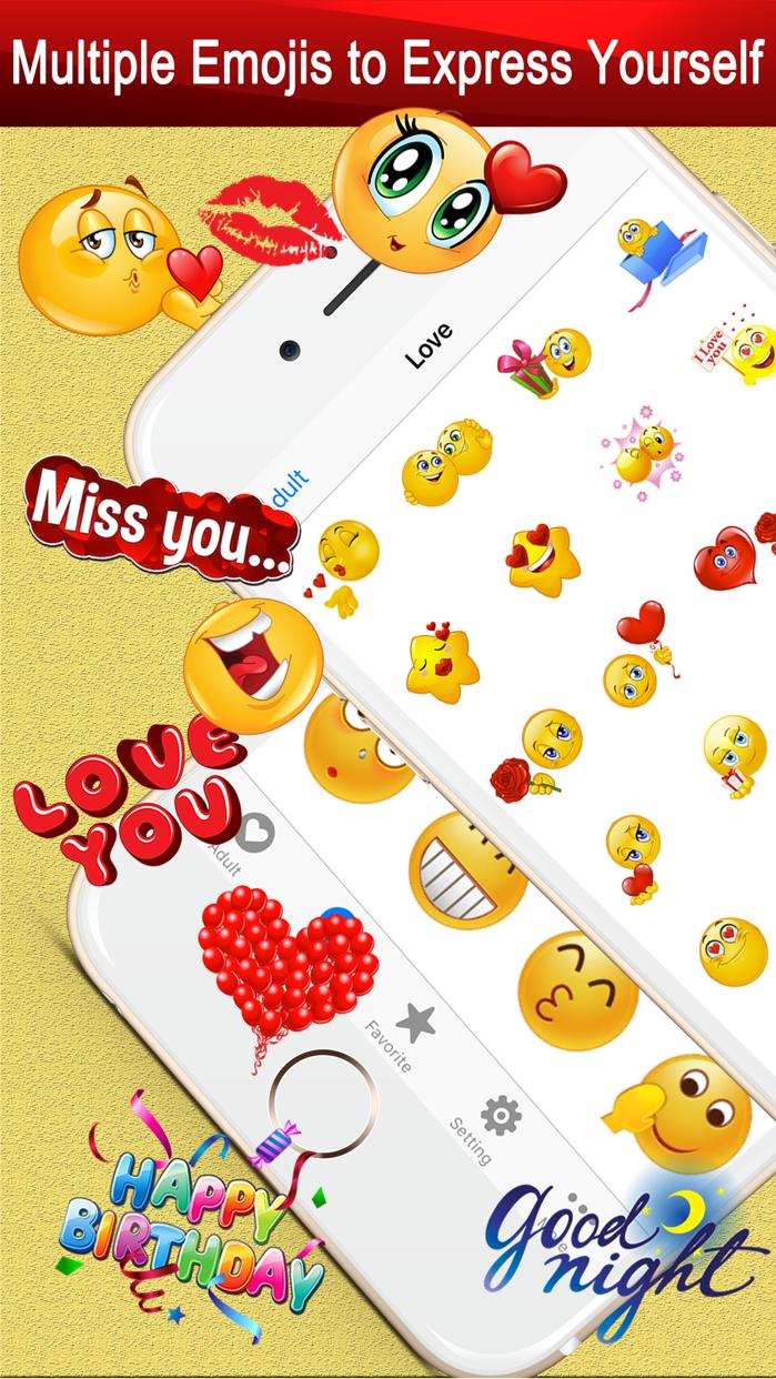 Emoji Keyboard Gif for Bitmoji Screenshot