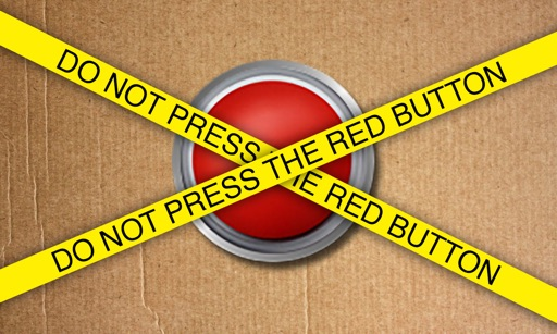 Do not Press the Red Button for TV icon