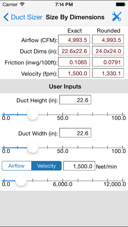 HVAC Duct Sizer screenshot-4