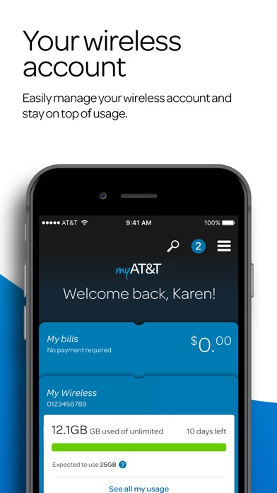 Screenshot for myAT&T in United States App Store
