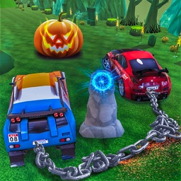 Scary Halloween Chained Cars