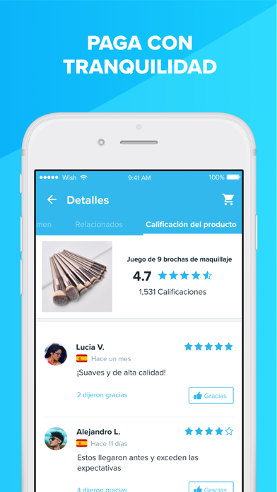 Screenshot for Wish - Comprar es divertido in Colombia App Store