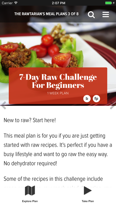 Rawtarian's Raw Meal Plans screenshot two