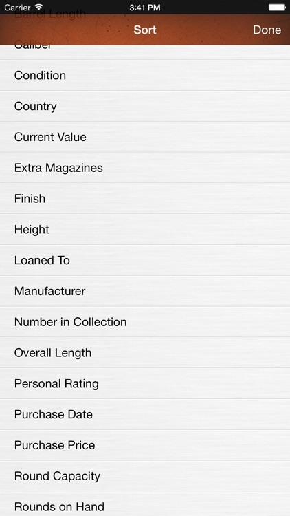 Gun Firearm Ammo Database screenshot-3