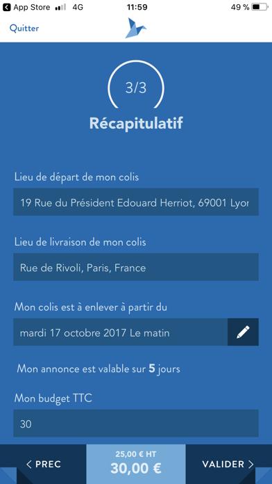 USEND Livraison Personnalisée screenshot four