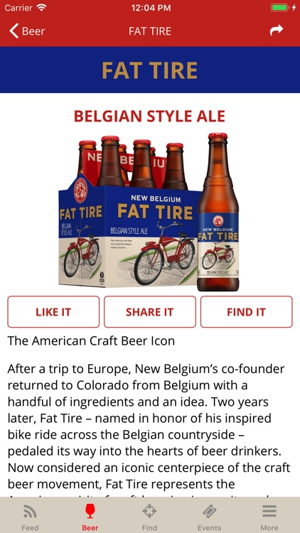 New Belgium Beer Mode