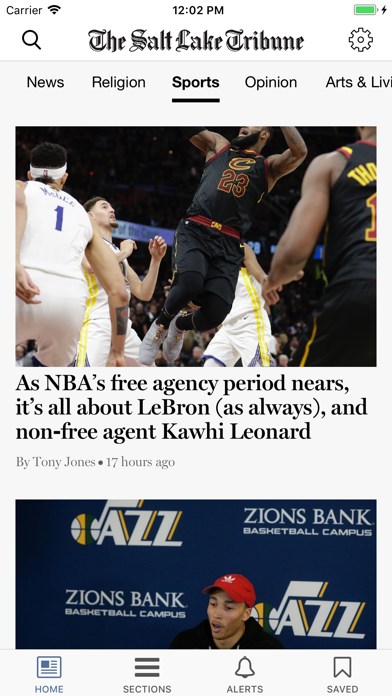 Salt Lake Tribune Screenshot