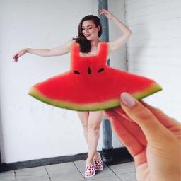 Watermelon Dress insta challenge stickers