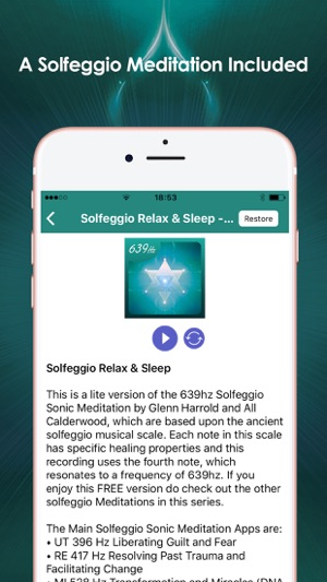 Solfeggio Sonic Meditations Screenshot