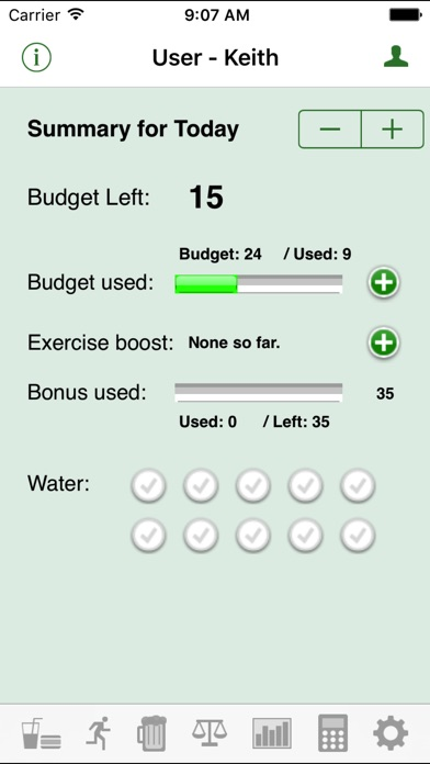 Daily Tracker For Weight Loss review screenshots