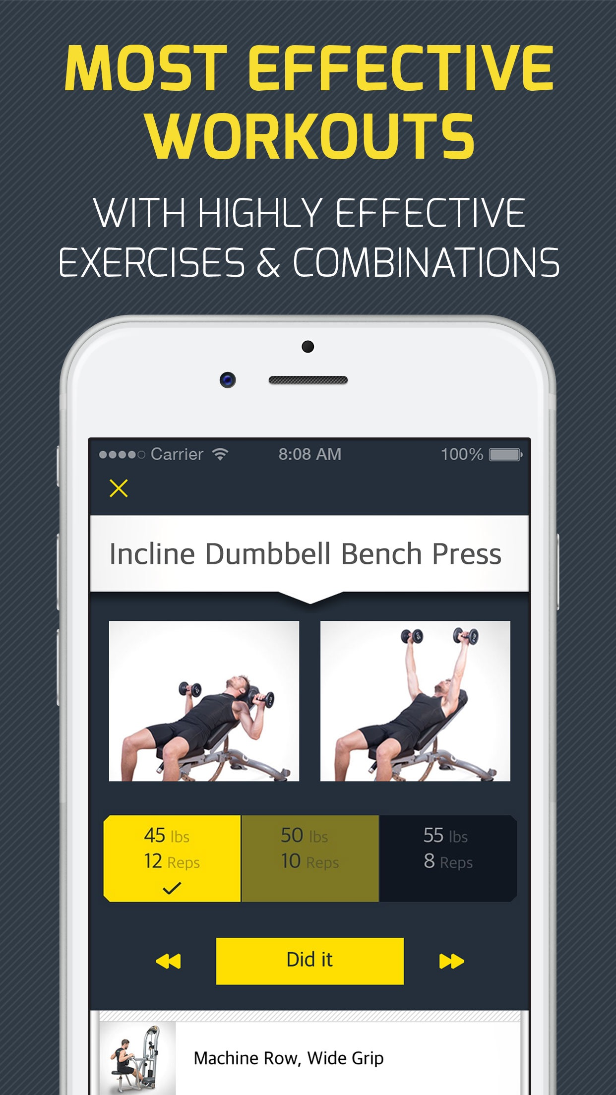 Workout: Gym exercise planner Screenshot