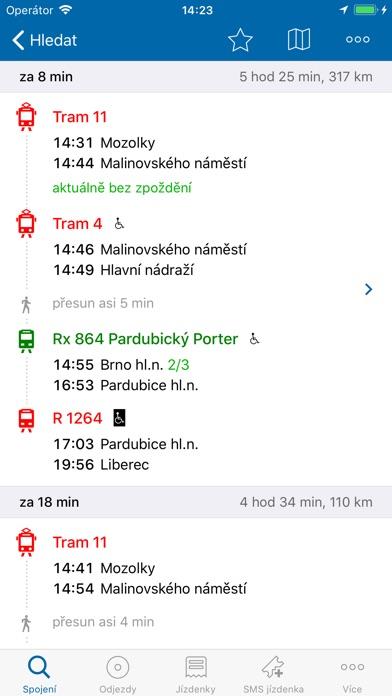 Screenshot for Jízdní řády IDOS in Czech Republic App Store