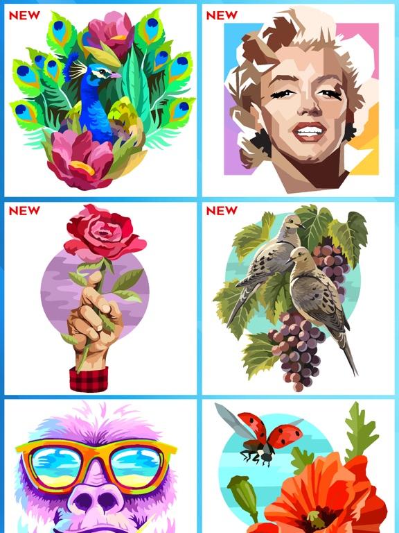 Раскраска по номерам Pixel art для iPad