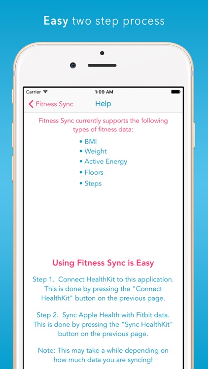 Fitness Sync - Solve Fitbit to Health - HR & Steps