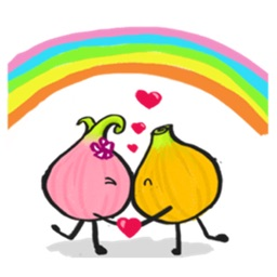 Love Story of Onions Sticker