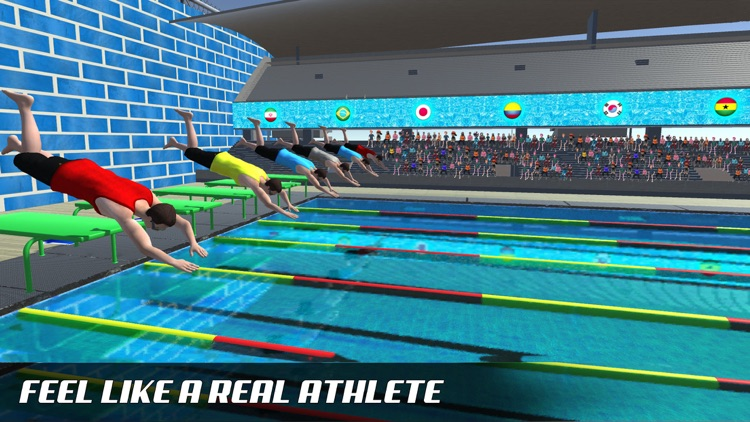 Water Swimming Diving Race screenshot-1