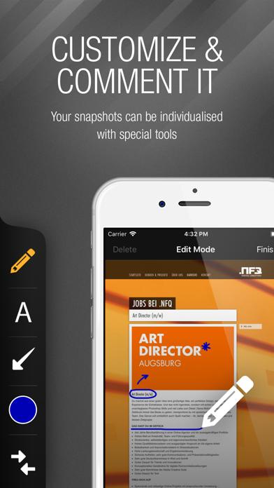 webSnap - Screenshots for Devs screenshot four