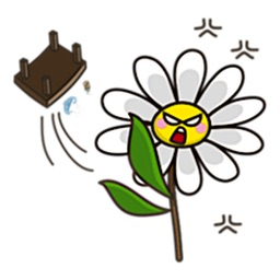Angry Flower Emoji Sticker
