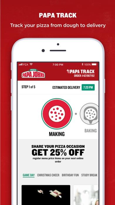 Screenshots of Papa John's Pizza for iPhone