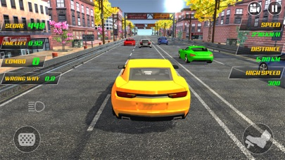real racing car on smashy road by manzoor ahmad ios united states
