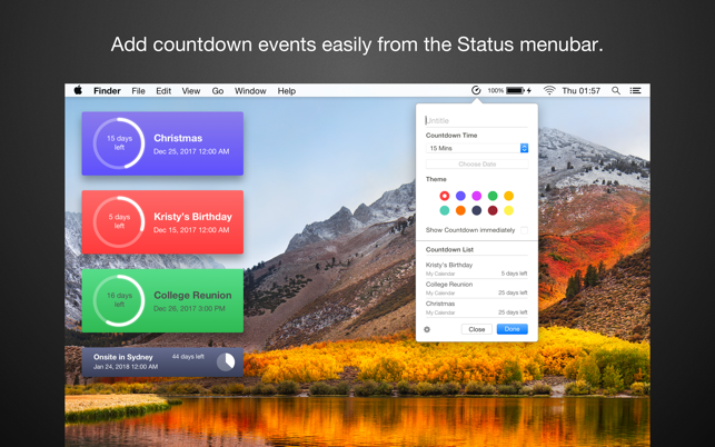 Event Countdown on the MacAppStore