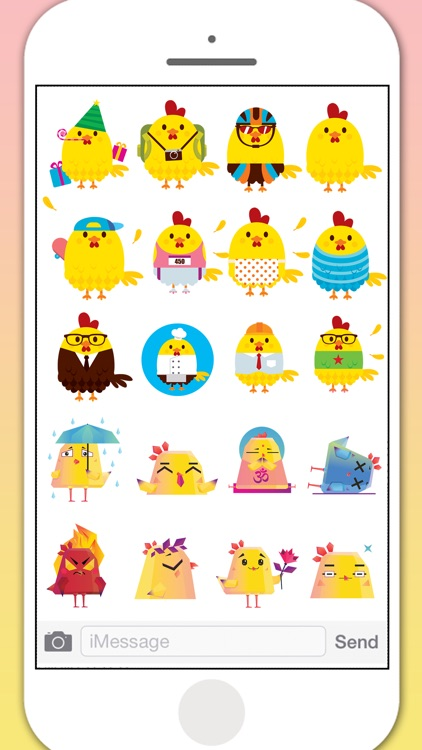 Pop Chicken Stickers