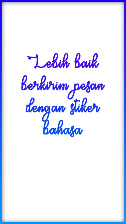 Bahasa Stickers screenshot-0