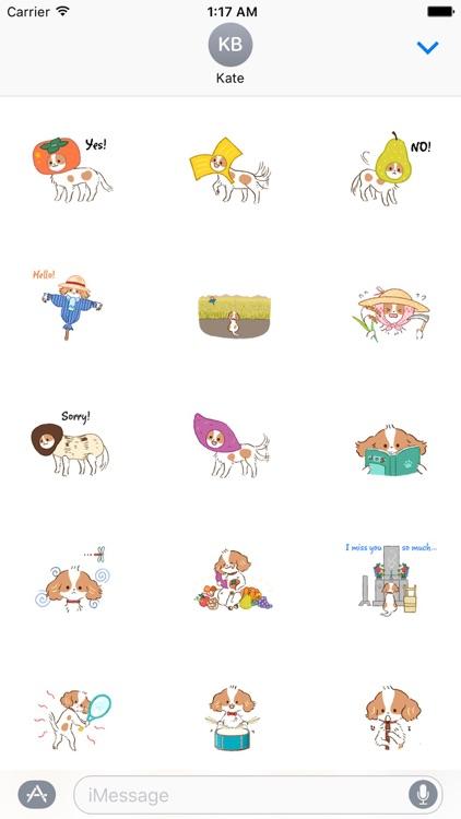 Autumn of Cavalier Dog Sticker