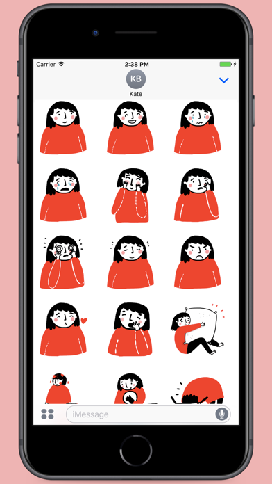 Screenshot for Black Red White Stickers in Egypt App Store