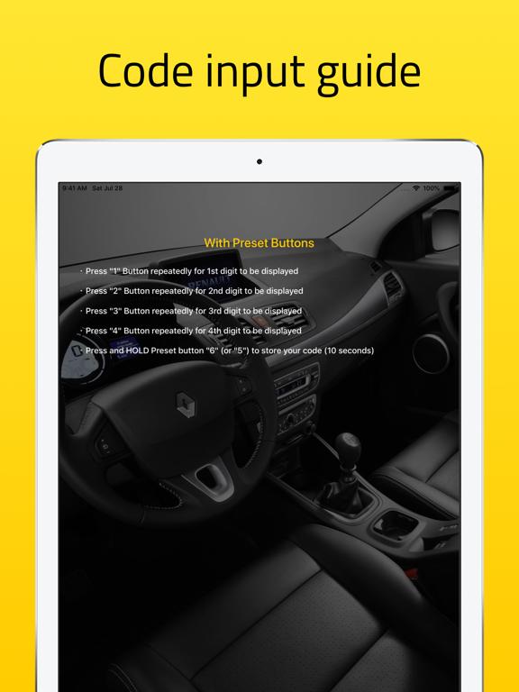 Radio Code for Renault Stereo screenshot 8