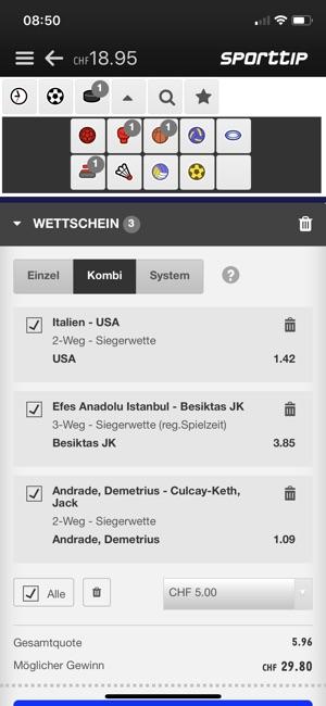 Sporttip Swisslos im App Store
