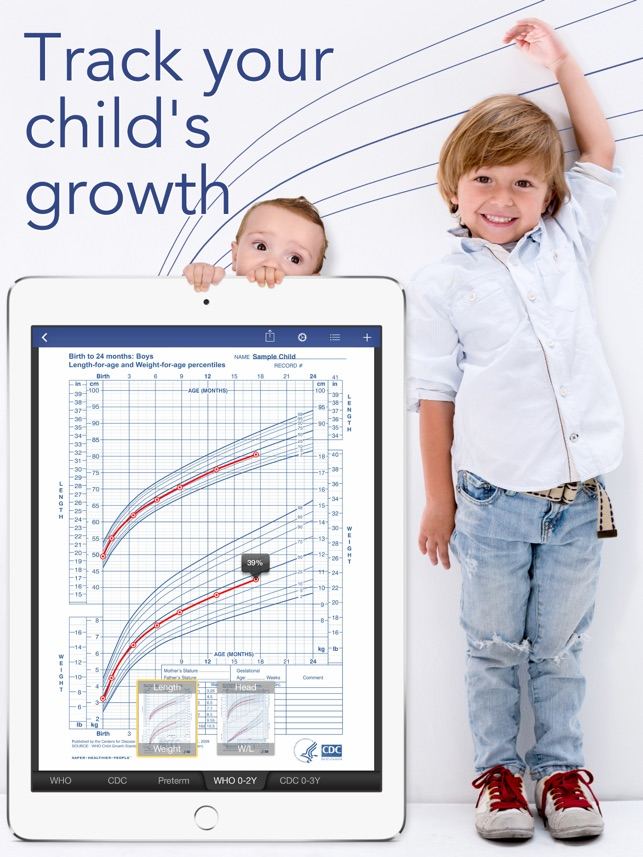 Growth Baby Child Charts On The App Store