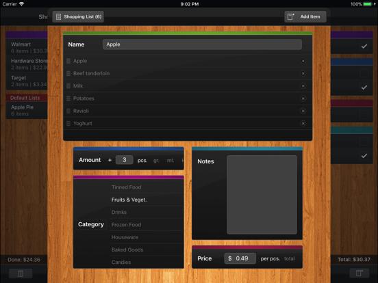 Shopping List (Grocery List) screenshot