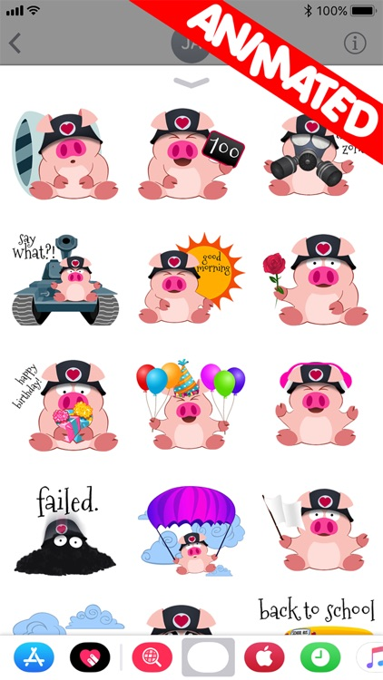 Cute Piggy Commando (animated)
