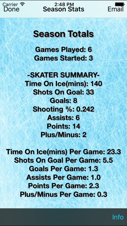 Hockey Stats Tracker Touch screenshot-4