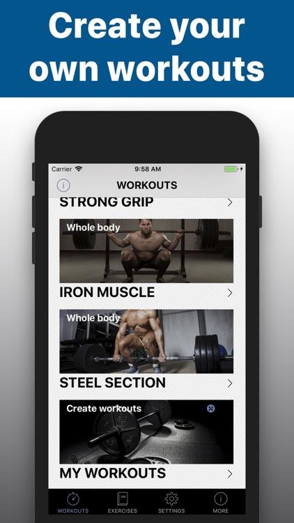 Barbell workout training -hiit screenshot-4