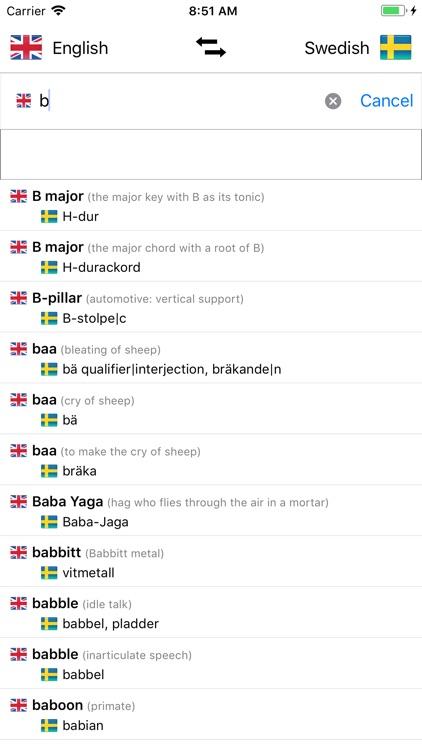 Swedish/English Dictionary screenshot-3