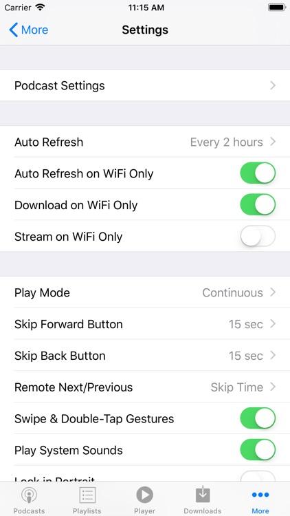 PodCruncher Podcast Player screenshot-7