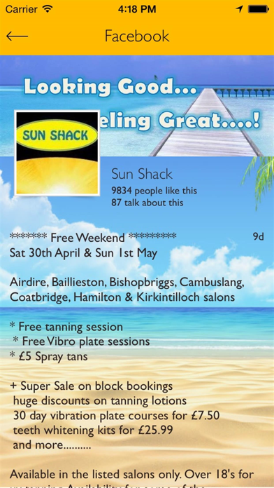 Sun Shack Tanning screenshot four