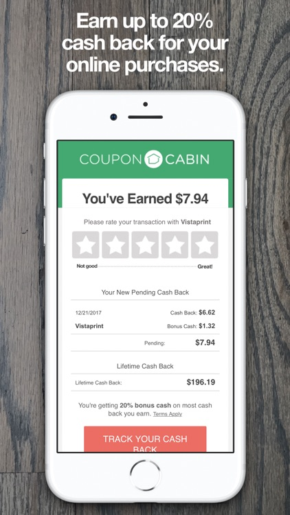 CouponCabin: Cash Back & Deals