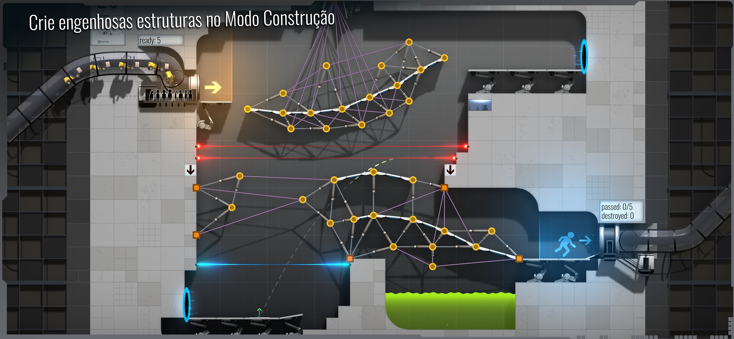 Screenshot do app Bridge Constructor Portal