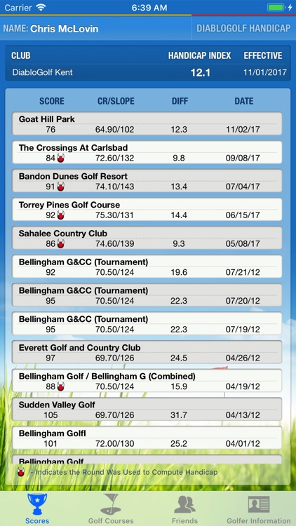 Diablo Golf Handicap Tracker screenshot-3