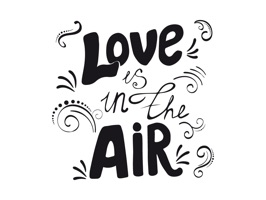 Love in Air Stickers