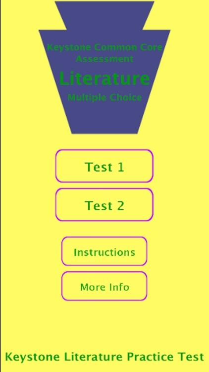 Keystone Lit Practice Test